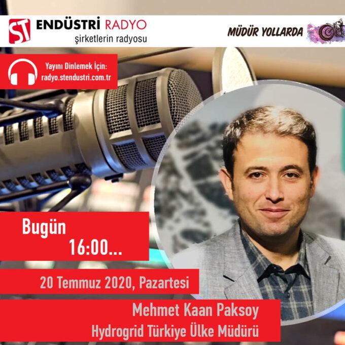 Hydrogrid Türkiye Ülke Müdürü Mehmet Kaan Paksoy: Enerjide Yeni Normal