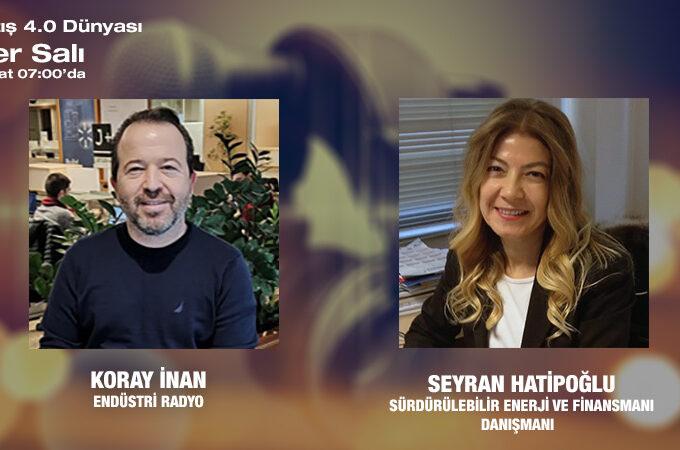 Sürdürülebilir Enerji Ve Finansmanı Danışmanı Seyran Hatipoğlu: Türkiye'de Ve Dünyada Sürdürülebilir Enerji Ve Finansmanı