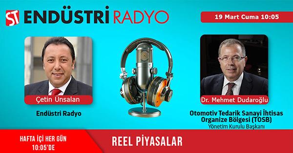 Otomotiv Tedarik Sanayi İhtisas Organize Sanayi Bölgesi (TOSB) Yönetim Kurulu Başkanı Dr. Mehmet Dudaroğlu: Otomotiv Sektöründe Tedarik