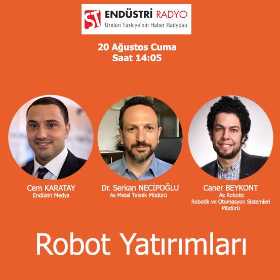 As Metal Teknik Müdürü Dr. Serkan Necipoğlu & As Robotic Robotik Ve Otomasyon Sistemleri Müdürü Caner Beykont: Cobotlar